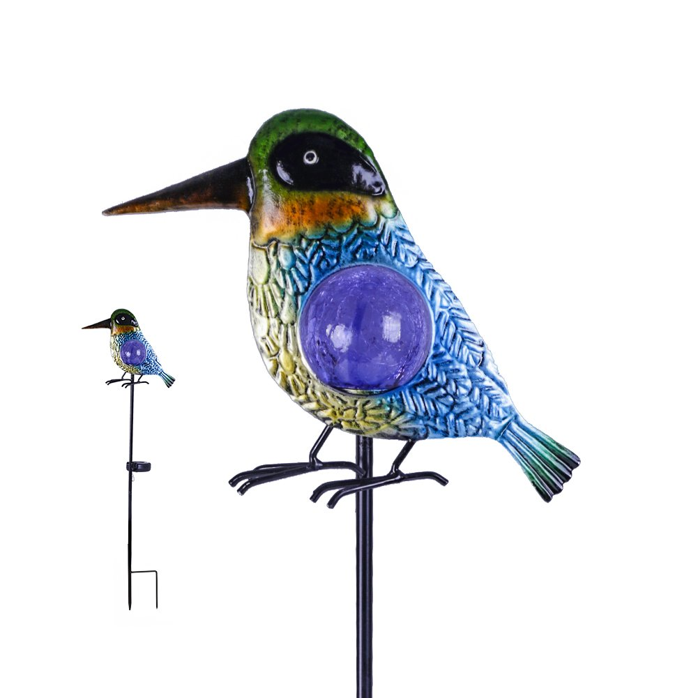 Hannah's Cottage Decorative Garden Stake, Metal Garden Ornaments with Solar Lights for Garden, Patio, Backyard and Outdoor (Outdoor Paradise) by Hannah's Cottage