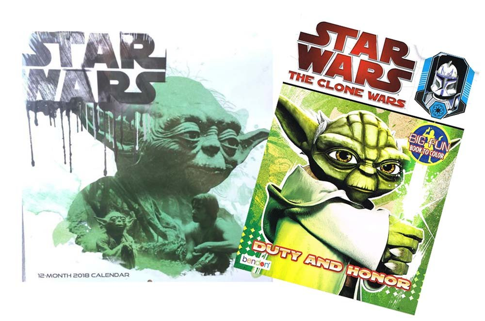 Star Wars 2018 calendario de pared 12 meses, para colorear y ...
