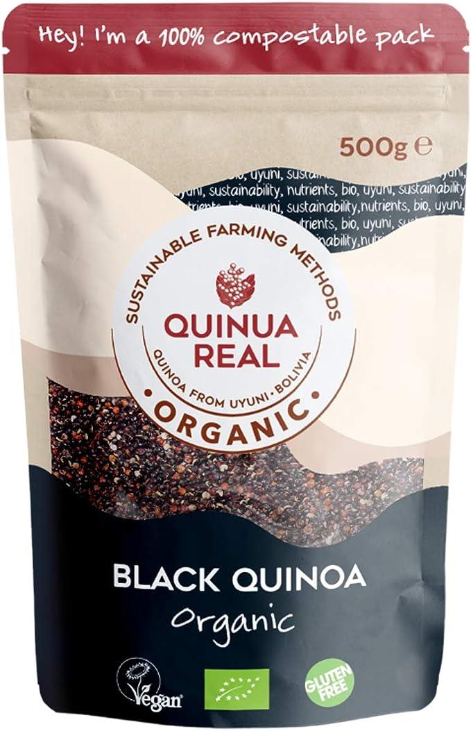 Grano pulido negro quinoa real BIO - Quinua Real - 500 g ...
