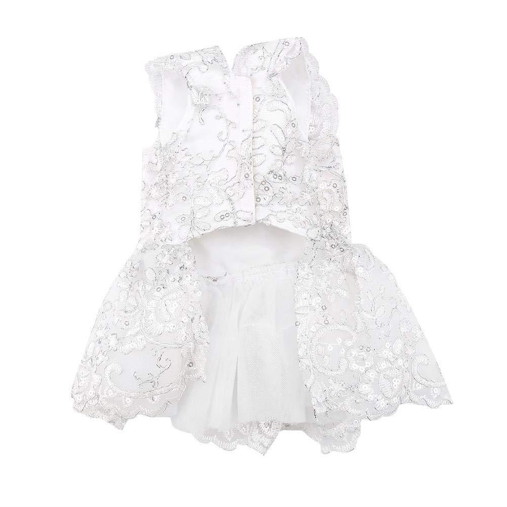Abiti Eleganti Xs.Xs Bianco Costumi Animale Domestico Cane Abito Da Sposa Abiti Sera