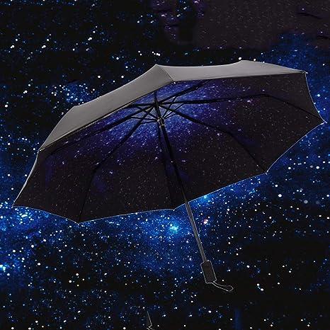 Flytian Parasol Plegable De Paraguas Negro De 8-Bone ...