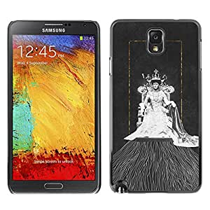 iBinBang / Funda Carcasa Cover Skin Case - Queen Gold Watercolor Art Fashion - Samsung Galaxy Note 3 N9000 N9002 N9005