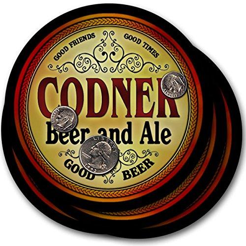 Codnerビール& Ale – 4パックドリンクコースター   B003QXUUVM