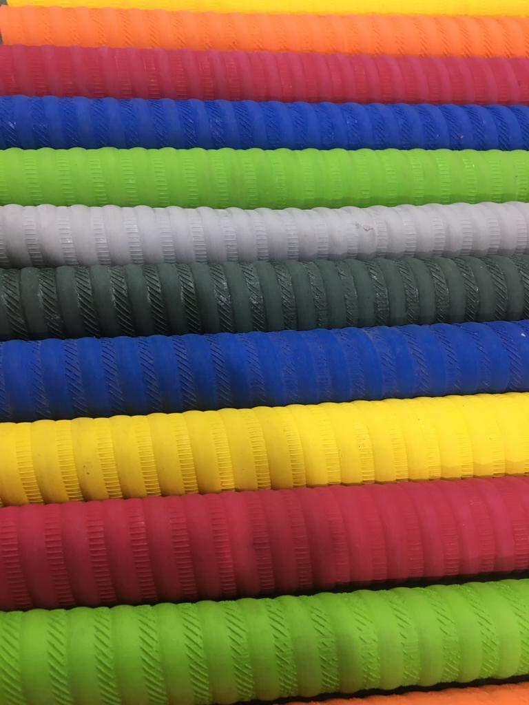 PLANET 007 Pack of 12 Pcs Bat Grips Multicolor No Slip Rubber Hand Grip Support Bat Grips Cricket Bat Grips by PLANET 007