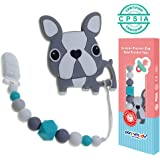 Panny & Mody Pacifier Clip with Silicone Teether Toy, Baby Teething Beads,Best Baby Shower Gift for Newborn Baby Girl and Boy Teething Toys Dummy Clip