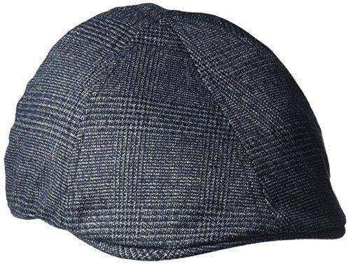 Van Heusen Men's Plaid Ivy Flat Cap, 6 Panel Design, Lightweight, Navy Plaid, L/XL