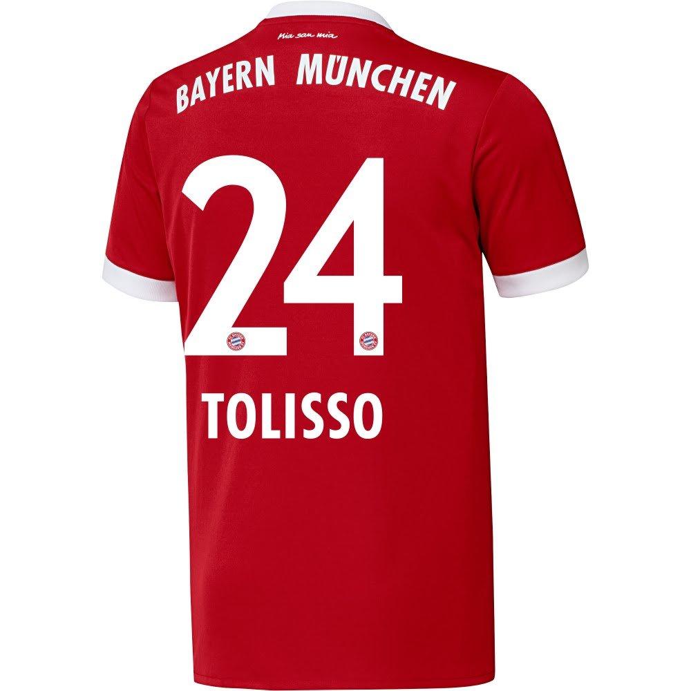 Bayern Munich Home Tolisso Jersey 2017 / 2018 (公式印刷) B074L6WX18X-Large