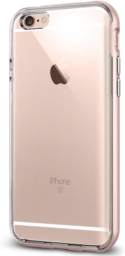 iPhone 6s Case, Spigen [Neo Hybrid EX] PREMIUM BUMPER [Rose Gold] Clear TPU / PC Frame Slim Dual Layer Premium Case for iPhone 6 (2014) / 6s (2015) - Rose Gold (SGP11725)