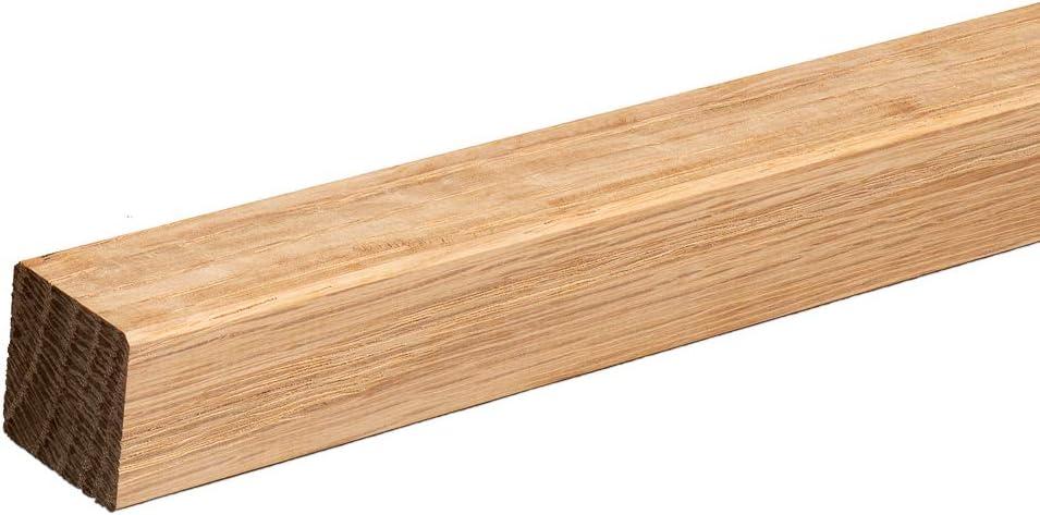 Quadratleiste Abschlussleiste Sockelleiste Eiche ROH Massivholz 20x20x2300mm