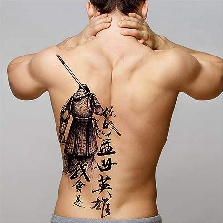tzxdbh 2 Unids-Big Black Tiger Tatuajes Hombres Lobo Dragón Tatoo ...