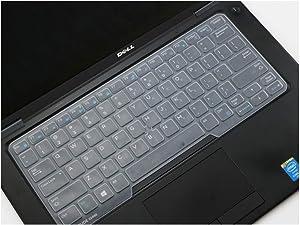 Compatible for Dell Latitude 14 E7450 E7470 E5470 E7480 5480 5490 7490 14 Inch Silicone Laptop Keyboard Cover Skin,Clear