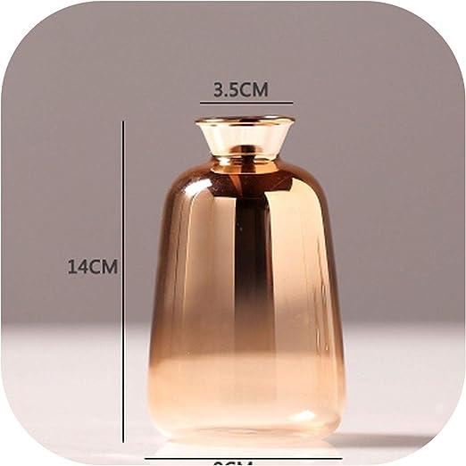 Nordic Glass Vase Electroplated Gold Flower Vases Dried Flower Bottle Home Decor