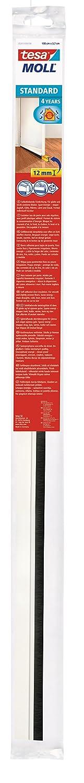 Tesa tesamoll/® STANDARD T/ürdichtschiene f/ür glatte B/öden Selbstklebend 100cm x 3,7cm transparent