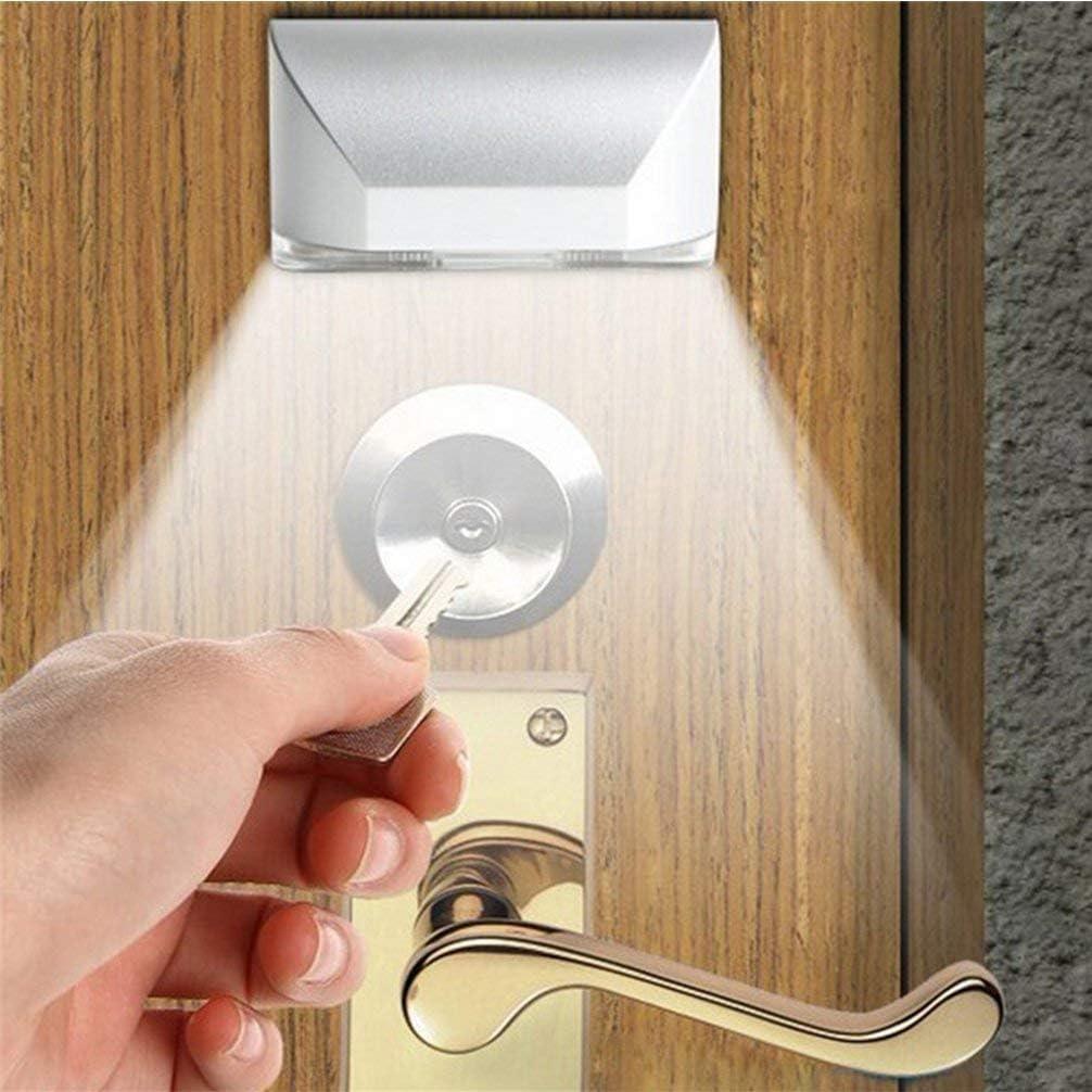 LENMO Keyhole Light Lamp Battery Operated PIR Infrared IR Wireless Auto Sensor Motion Detector Door Keyhole with 4 LED Bulbs Light Lamp Tap Lights LED Night Light for Key Hole/Door Lock
