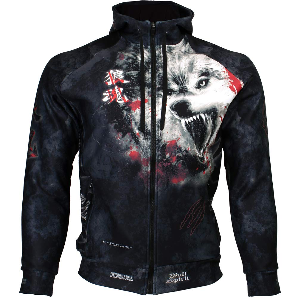 Btoperform Wolf Spirit Full Graphic Hoodies HD-10 L  B079YP2CMQ