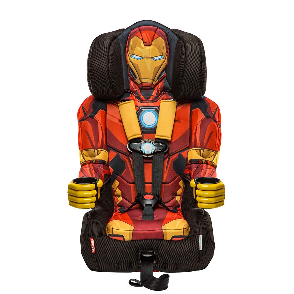 KidsEmbrace Iron Man Booster Car Seat, Marvel Avengers Combination Seat, 5 Point Harness, Red 3001RON