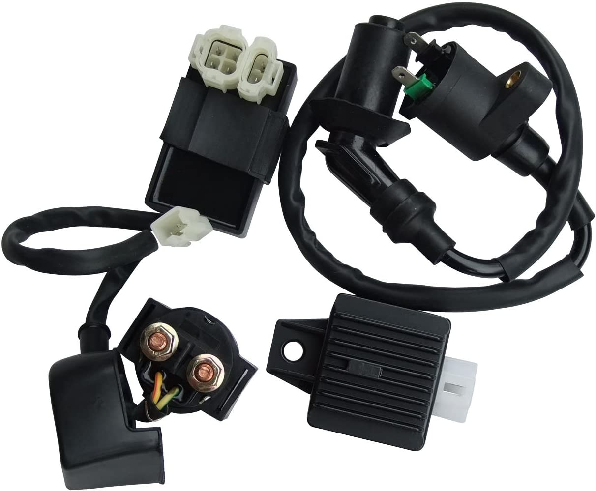 shamofeng Ignition Coil AC CDI Solenoid Relay Voltage Regulator For GY6 49cc 50cc 125cc 150cc ATV Scooter Moped