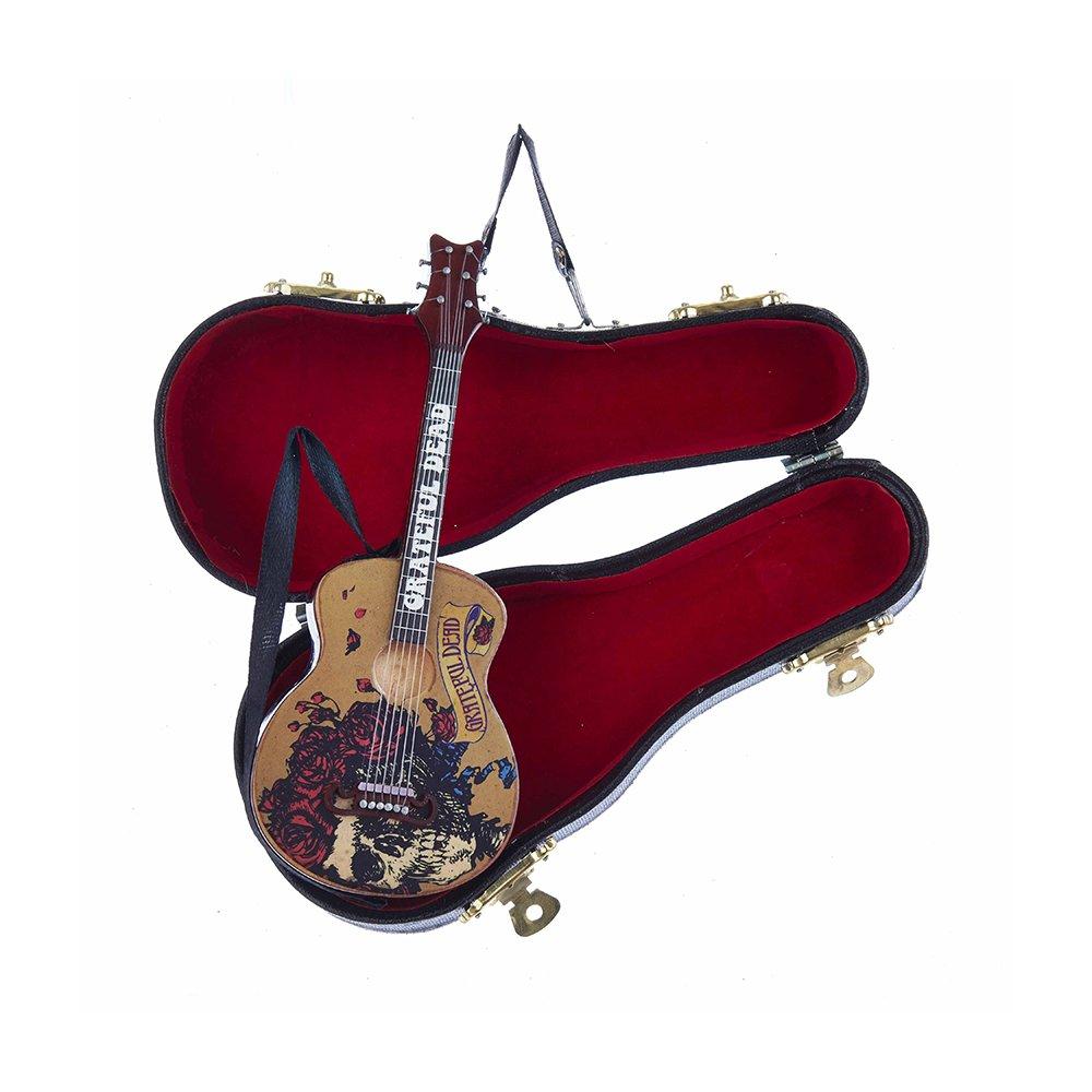Kurt Adler Grateful Dead Guitar Ornament with Guitar Case, 5.5''