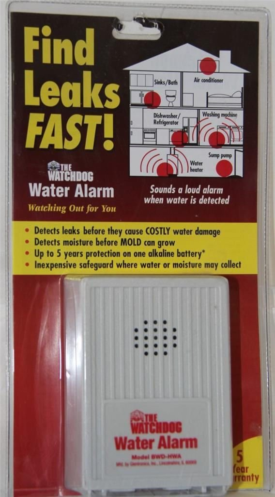 ''ABC Products'' - Water Leak Detector Alarm - Installation - Sets On Floor - Battery Operated - Loud 110dB - (Use Near Sinks,Laundry Rooms,Drain Pipes Water Heaters, Sump Pumps and more)m