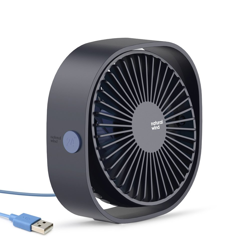 Portable Desk Fan, Baseus 3-Speed Mini USB Fan, Personal Quiet Cooling Fan, Small Fan for Office Home Desktop