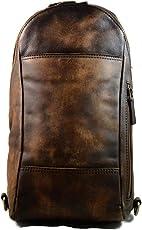 Mochila de piel marron oscuro bolso de cuero bolso de hombre bolso de mujer de piel bolso de espalda bandolera de cuero lavado de viaje bandolera de piel