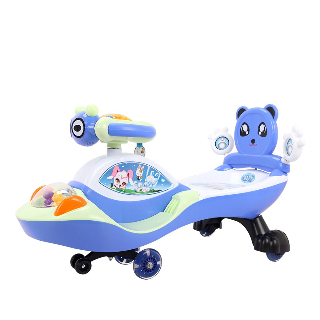 Ride On Toy, Alter 3 Jahre und höher, Twist, Turn, Wiggle für endlosen Spaß Blau, süß (Farbe   Blau) Dark Blau