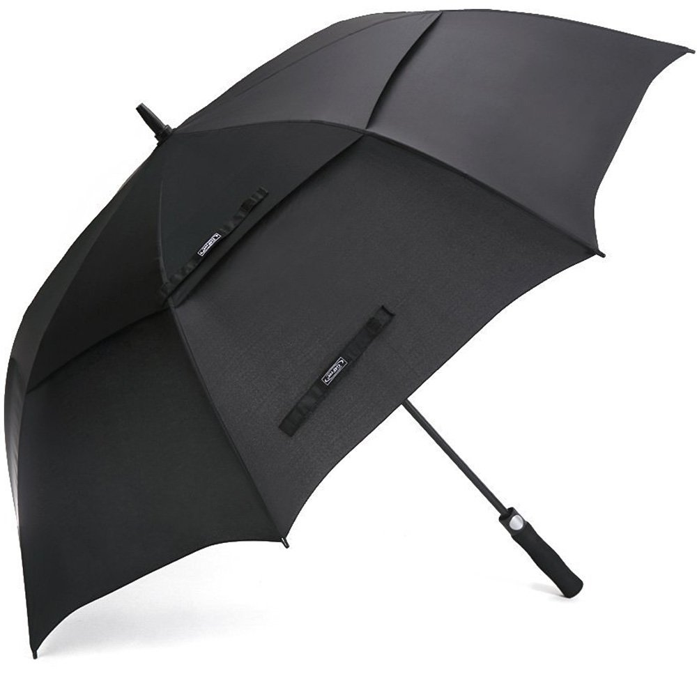 G4Free Ultimate Golf Umbrella Double-Canopy Large Oversize Black Windproof Waterproof Automatic Collapsible Best for Men (Black)