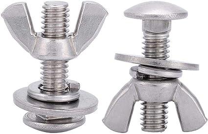 tornillos de buceo de acero inoxidable 316 Tornillos de mariposa Tuercas de mariposa Tornillos de 2 piezas