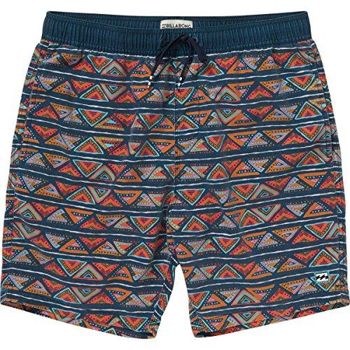 Billabong Men's Sundays Layback Boardshorts Brick Large Billabong Flap Pocket Boardshorts