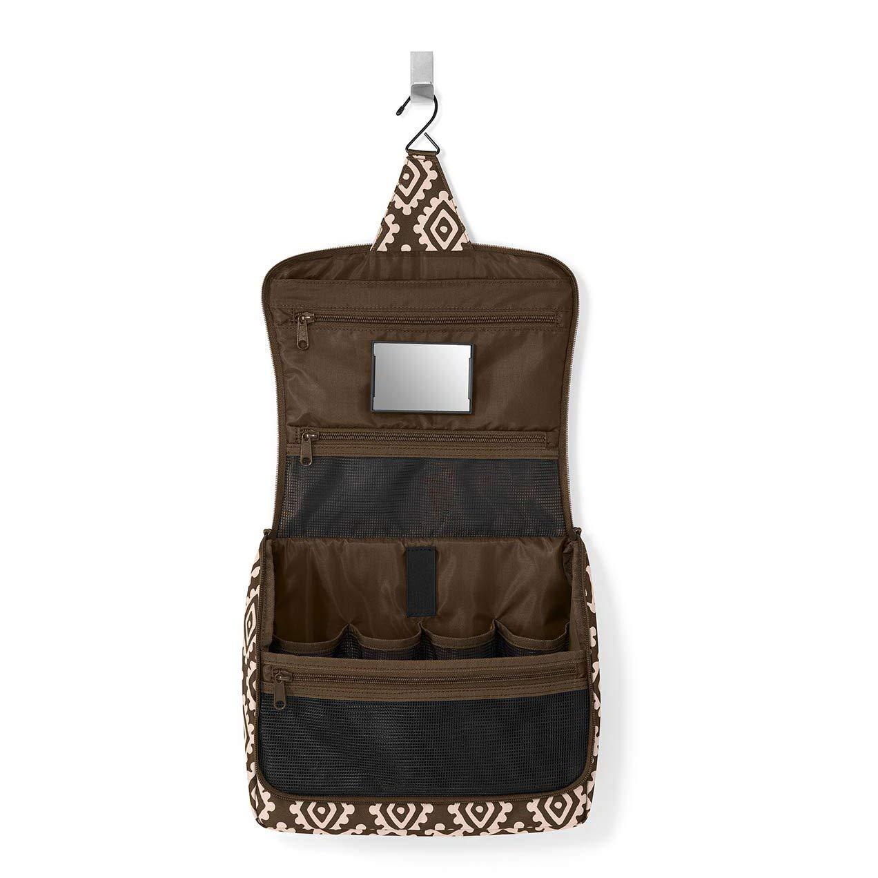 28 cm Marrone 4 liters Diamonds Mocha Reisenthel toiletbag XL Beauty Case da viaggio