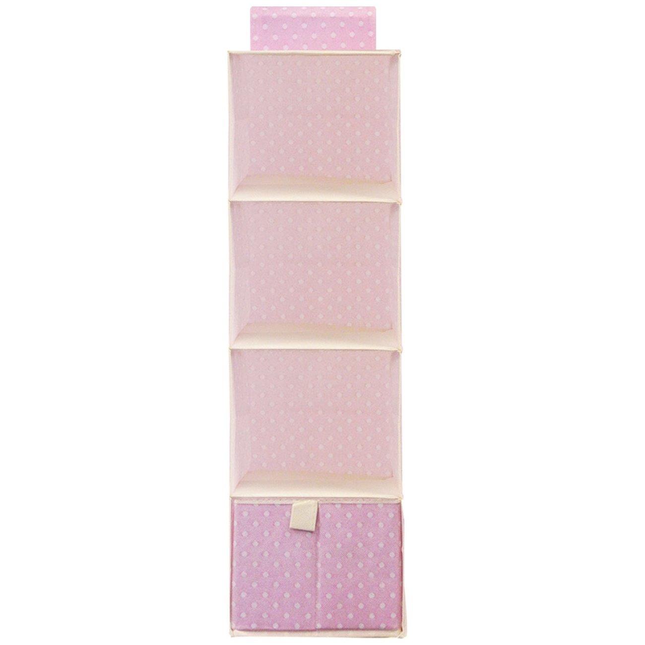 Wrapables 4-Shelf With 1 Drawer Hanging Nursery Closet Organizer Pink