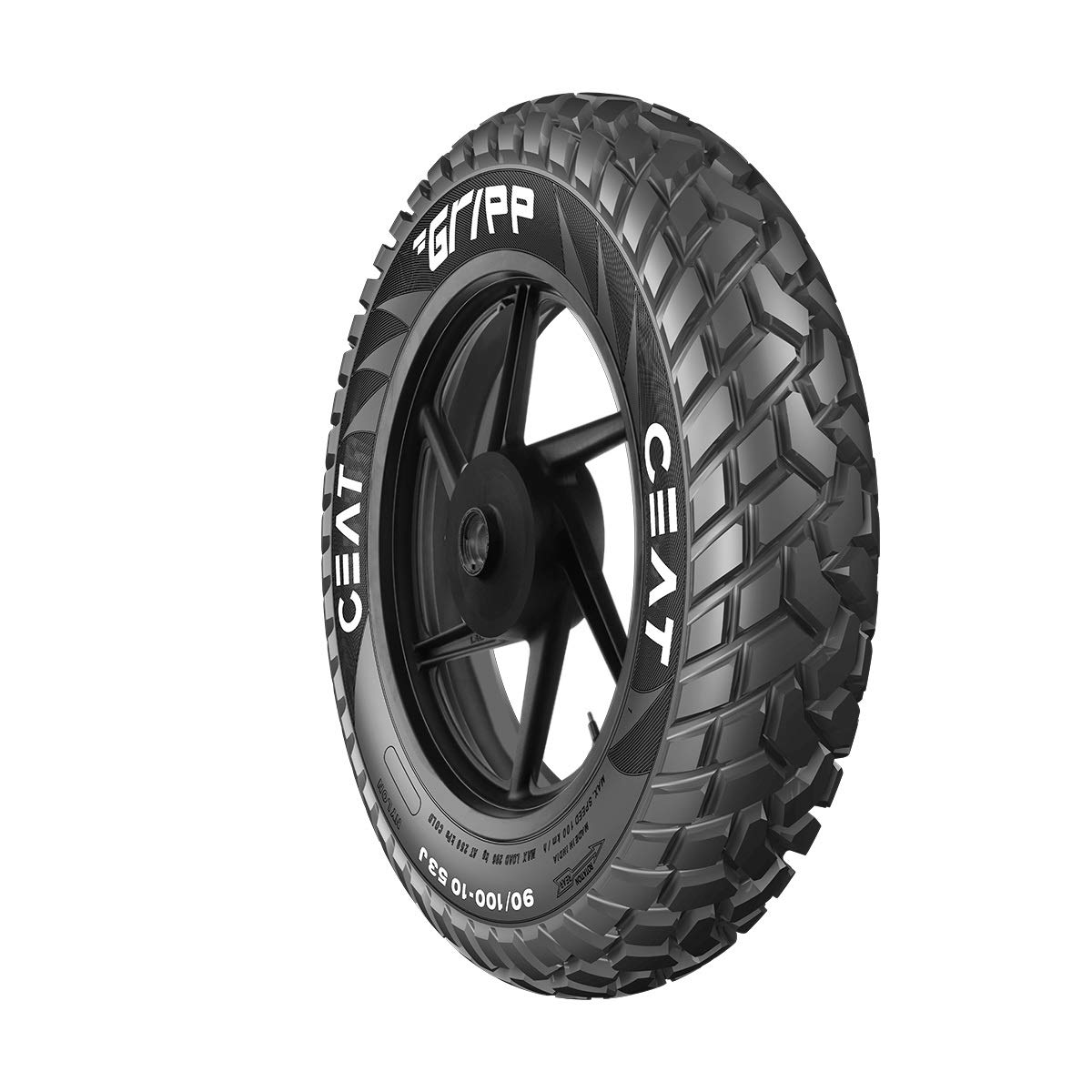 Ceat Gripp  90/100 - 10  53J Tube-Type Scooter Tyre, Rear (Home Delivery)  (Not Tubeless Tyre) product image