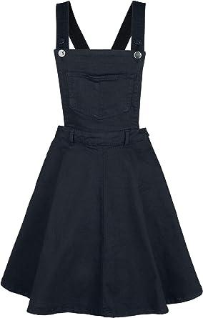 Hell Bunny Dakota Vestido Estilo Pichi Medium-Length Vestido Negro ...