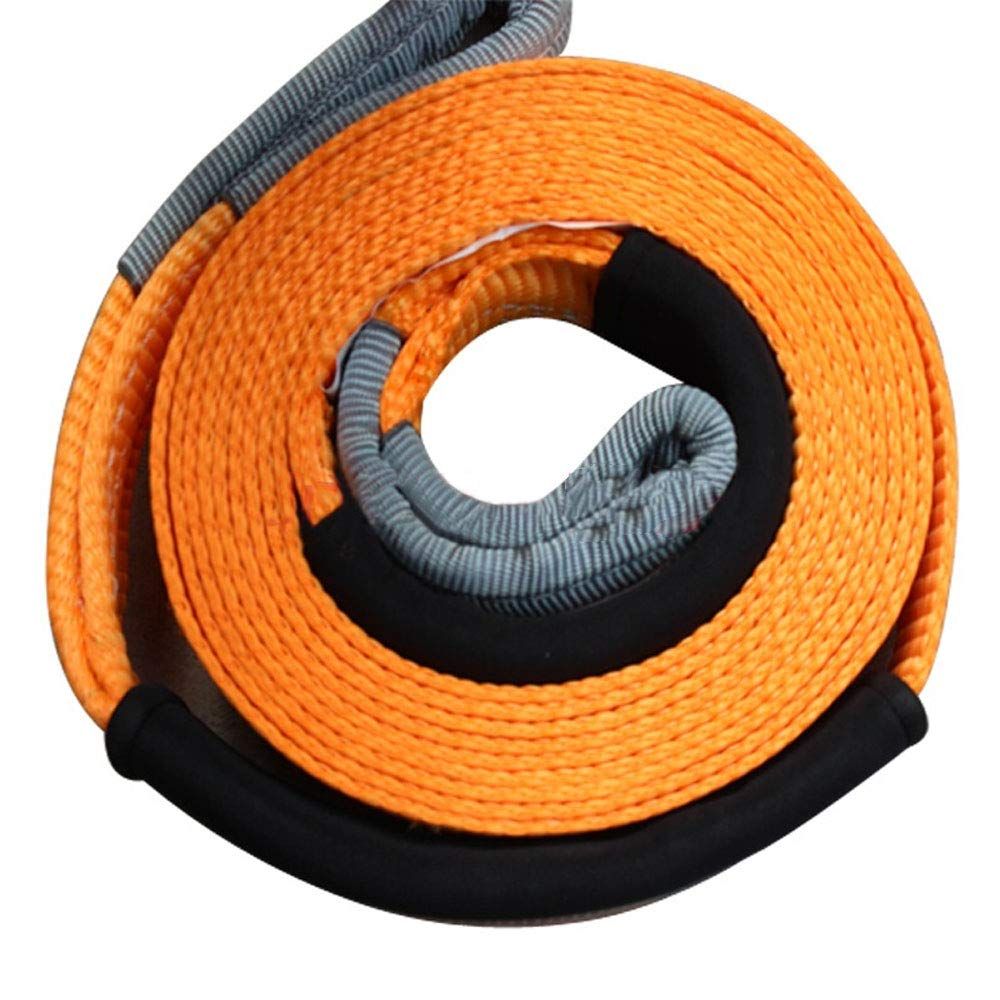 RELIABLESLING Heavy Duty Recovery Tow Straps 2 X 20 20000 Lb Capacity,Recover Vehicle Stuck in Mud//Snow Winch Snatch Strap-Protective Loops Road Towing Rope