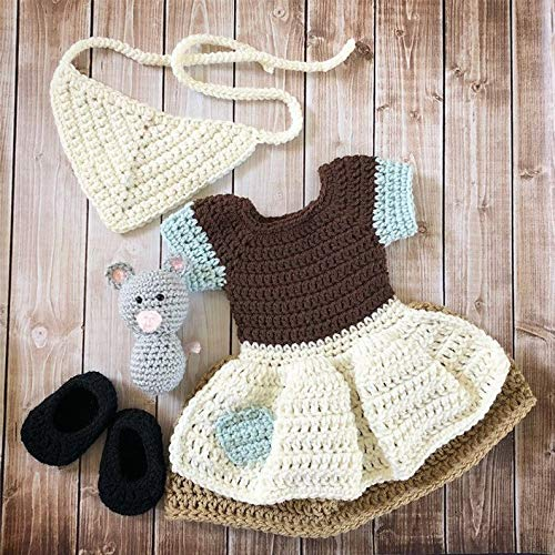 Princess Cinderella Maid Inspired Costume/Crochet Cinderella Rag Dress/Cinderella/Princess Photo Prop Newborn to 12 Months- MADE TO ORDER ()