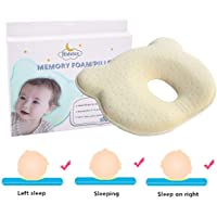 Baby Pillow - PrevenHidetex ting Flat Head Syndrome (Plagiocephaly) for your newborn baby,Made of Memory Foam Head- shaping Pillow And Neck Support (0-12 Months) 100% GUARANTEE and FREE DELIVERY (Yellow)