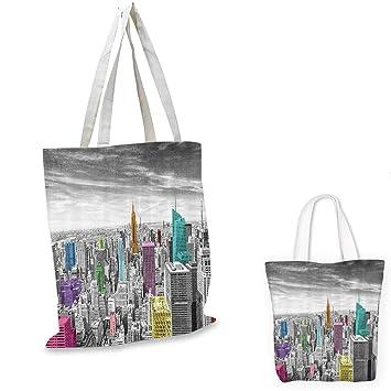 44a98adc2c00 Amazon.com: Cityscape Decor fashion shopping tote bag NYC New York ...