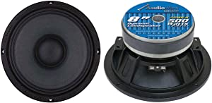 "Audiopipe 8"" 1000W Low/Mid Bass Frequency Car Audio Loudspeaker, 2pk | APMB-8-B"