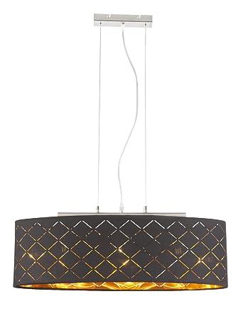 Hangelampe Stoff Lampenschirm 1 Flammig Hangeleuchte Pendelleuchte