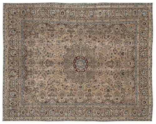 (Nakkas Antique Handwoven Kilim Persian Area Rug Beige 9'0'' X 11'9'')