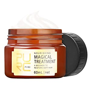 PURC Magical Hair Treatment Mask 60ml, 5 Seconds Repair Dry Damaged Hair Root Hair Tonic Keratin Hair & Scalp Treatment for All Hair Types Men/Women