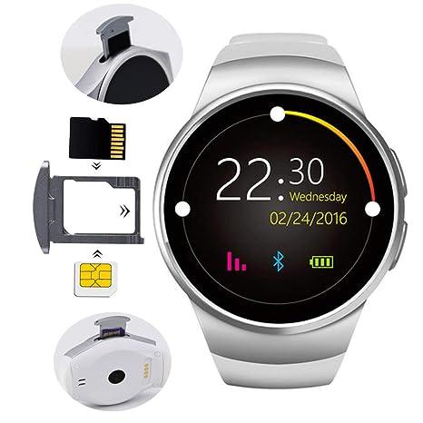 MCJL Tarjeta Inteligente Reloj Tarjeta de Llamada Bluetooth Ver Actividad Tracker tensiómetro con podómetro/Monitor