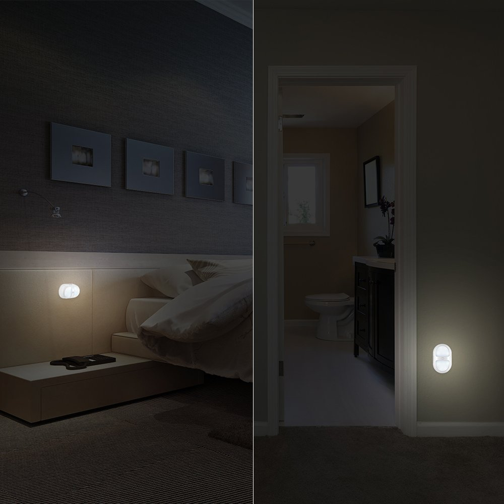 Amazon.com: AVANTEK Night Light Motion Activated Battery Operated Wall Lights with 10 LED and Dual Sensor for Stairs Bathroom Cabinet: Home Improvement