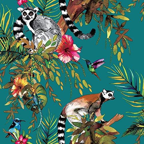 Holden Lemur Wallpaper - Teal 12402