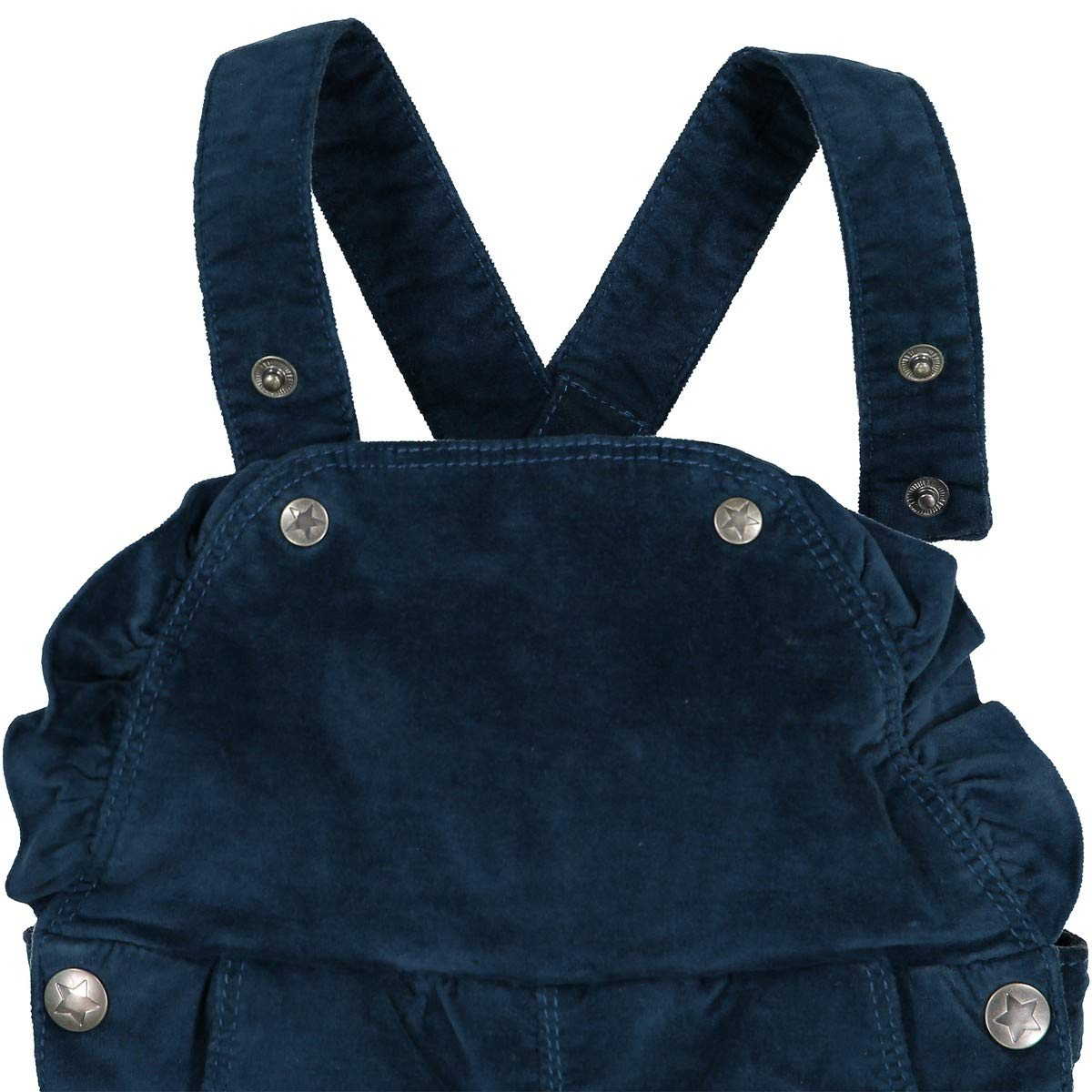 La Redoute Collections Big Girls Ruffled Velour Dungarees 1 Month-3 Years