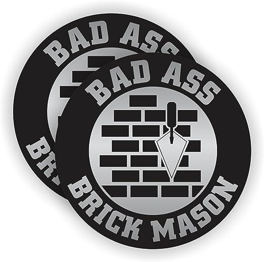 Certified Brick Mason Hard Hat Sticker Decal Funny Motorcycle Helmet Label