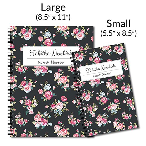Night Blooms Personalized Floral Spiral Notebook/Journal, 120 College Ruled or Checklist Pages, durable laminated cover, and wire-o spiral. 8.5x11 | 5.5x8.5 | Made in the USA Photo #4