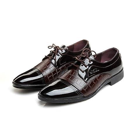 LANSHAY Originales Zapatos de Vestir para Hombres Zapatos ...