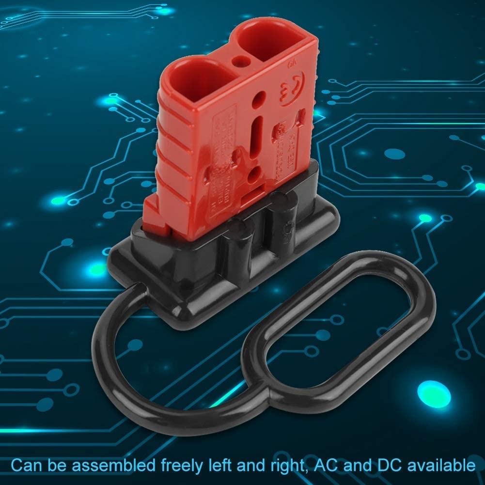 Beennex 5pcs 50A Double Pole Storage Battery Quick Plug Connector with 10 Pcs Terminals