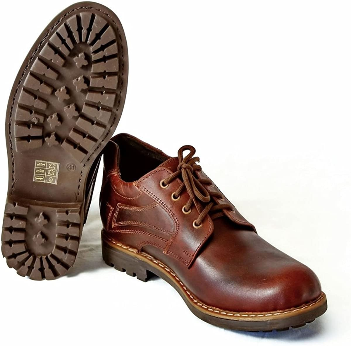 Mens Shoes Brown Outdoor Hiking Leather